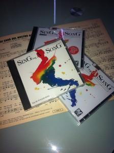 La collana di CD con Basi Musicali Singing a Song di M-Live
